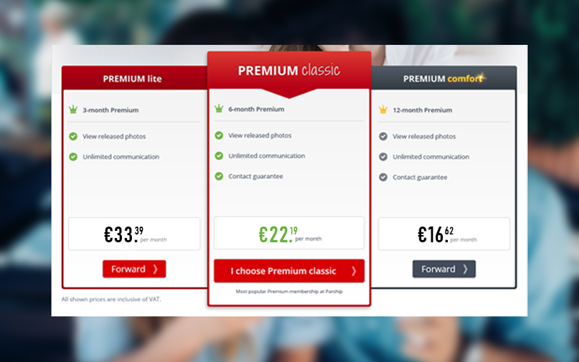 Parship Subscription Costs
