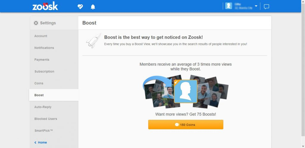 Zoosk Profile Boost