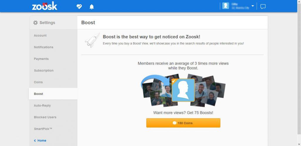 Zoosk Profile Boost