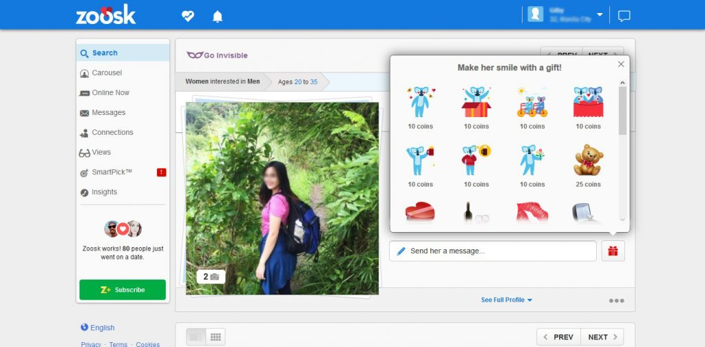Zoosk Gifts